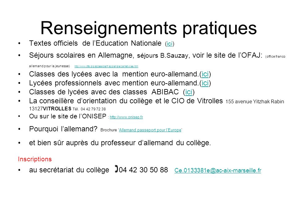 La classe euro allemand ppt video online t l charger - Office franco allemand pour la jeunesse ...