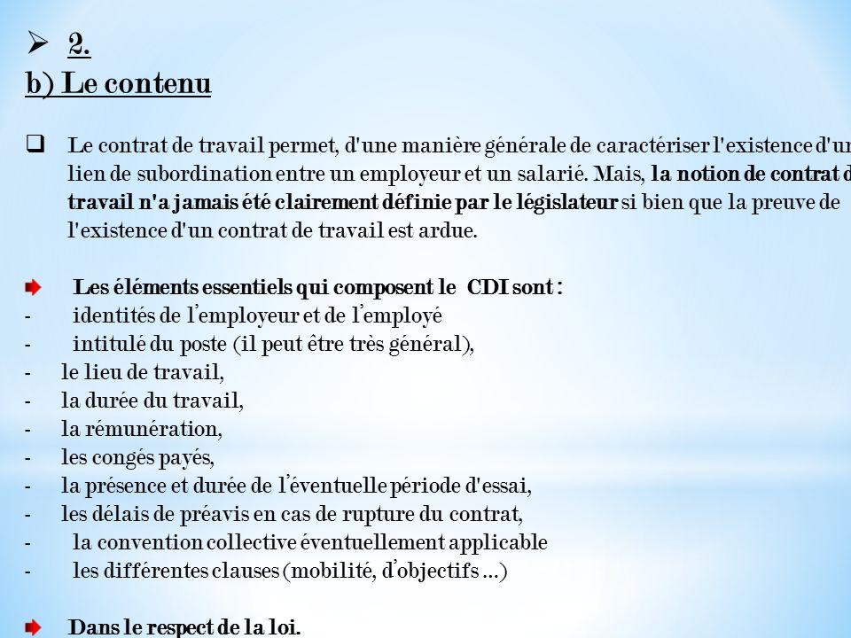 Le Contrat à Durée Indéterminée.   ppt video online télécharger