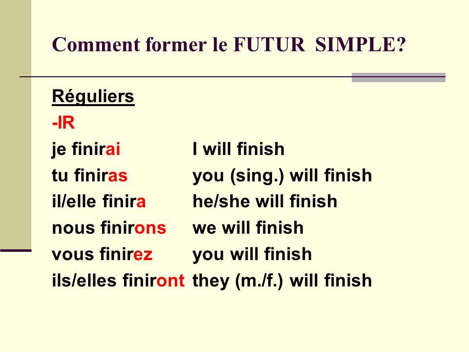 Le futur simple fsf 1d unit ppt t l charger - Comment sera le futur ...
