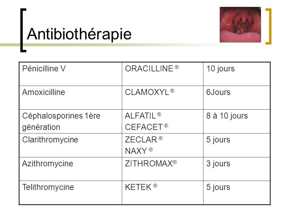 Antibiothérapie Pénicilline V ORACILLINE ® 10 jours Amoxicilline