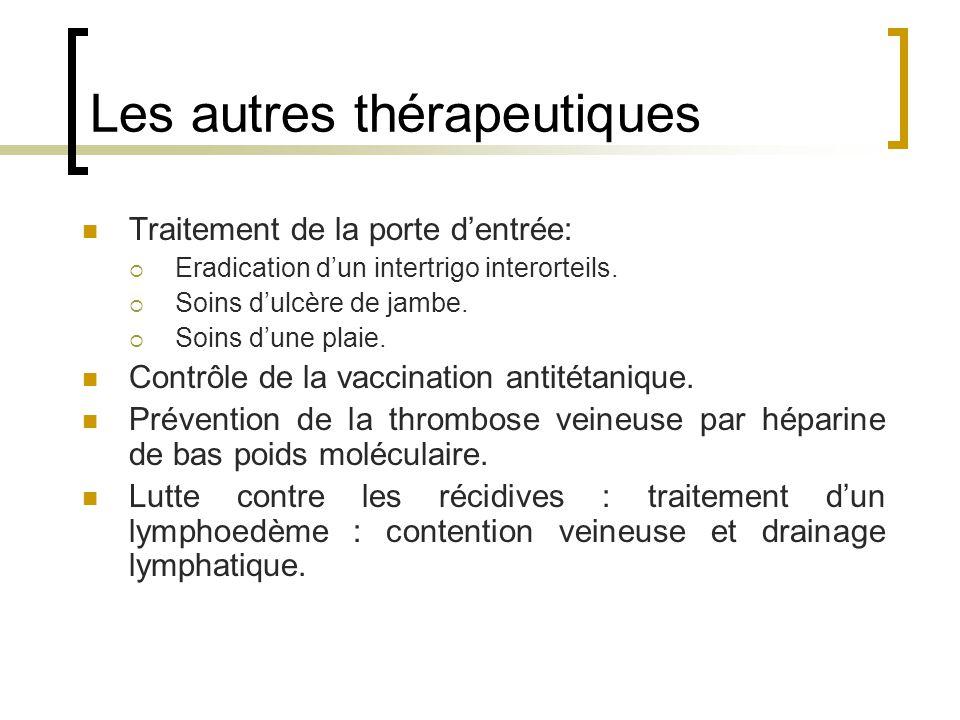 Les autres thérapeutiques