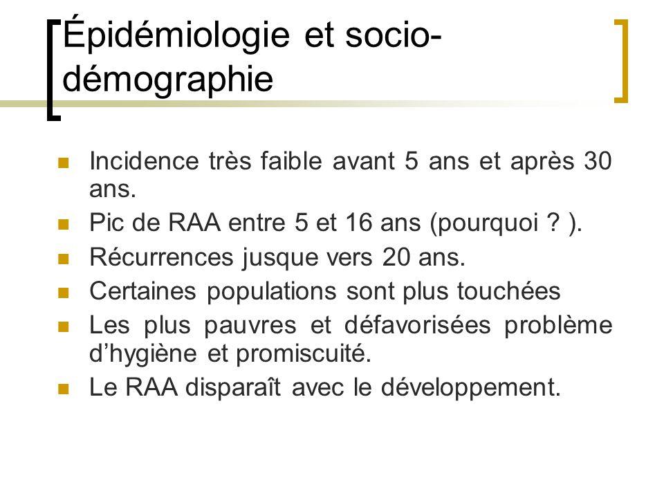 Épidémiologie et socio-démographie