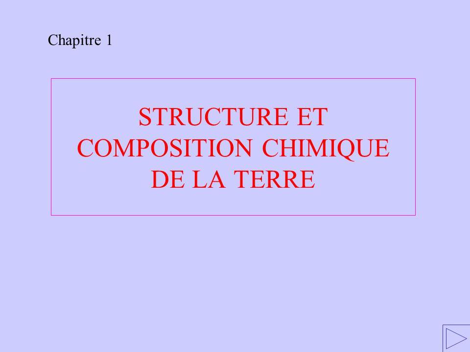 STRUCTURE ET COMPOSITION CHIMIQUE DE LA TERRE