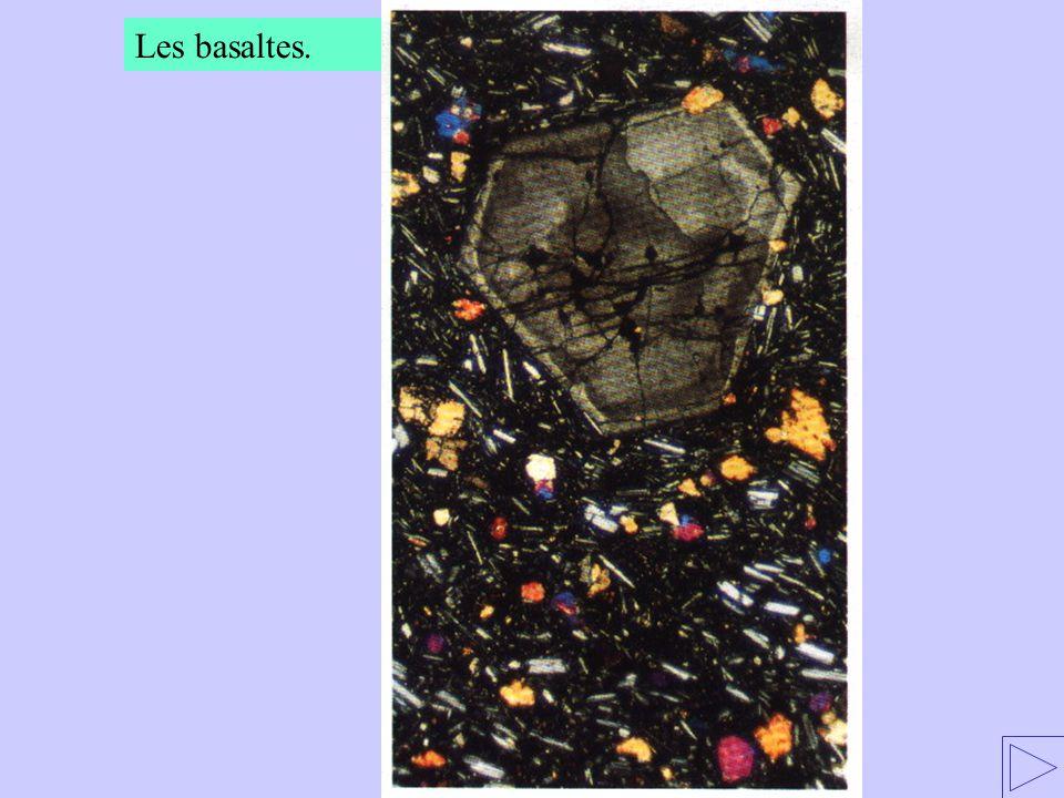 Les basaltes.