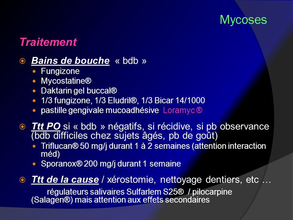 Mycoses Traitement Bains de bouche « bdb »