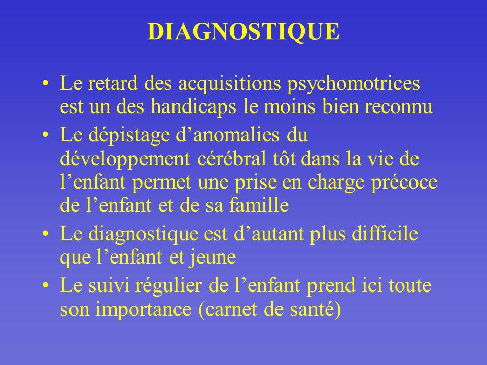 DIAGNOSTIQUE Le retard des acquisitions psychomotrices est un des handicaps le moins bien reconnu.