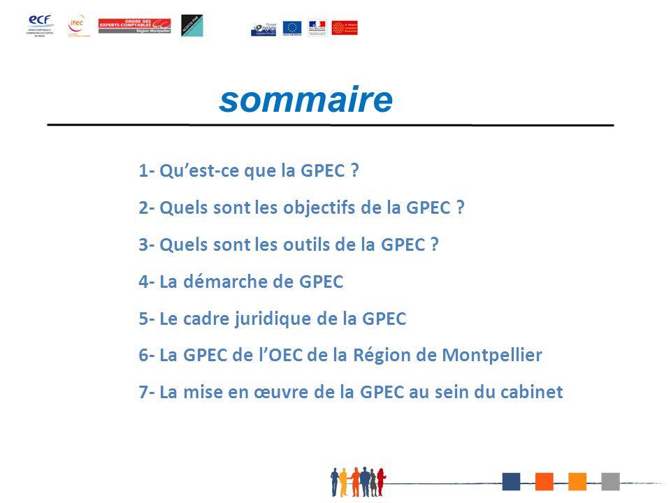 sommaire 1- Qu'est-ce que la GPEC