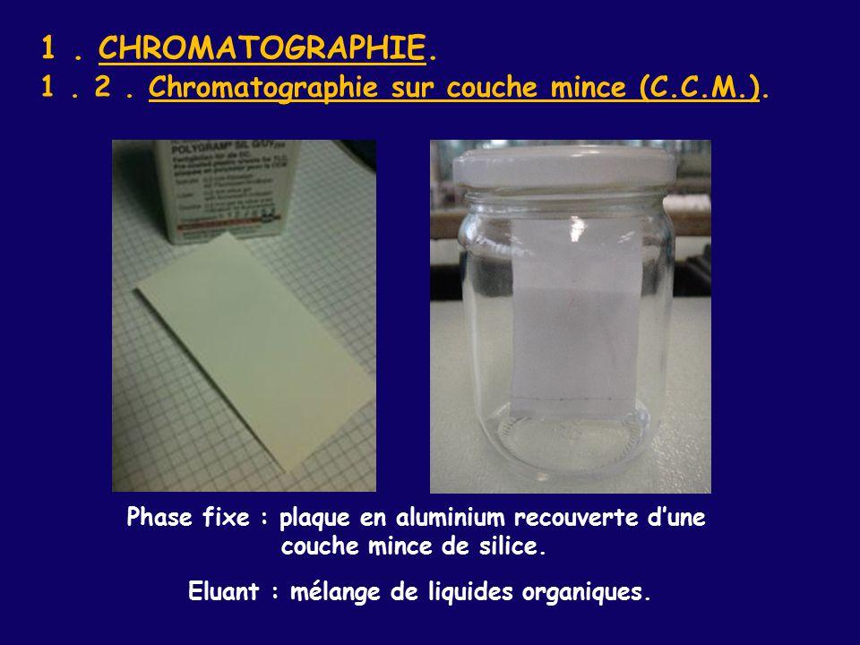 Identification d especes chimiques ppt video online t l charger - Chromatographie sur couche mince ...