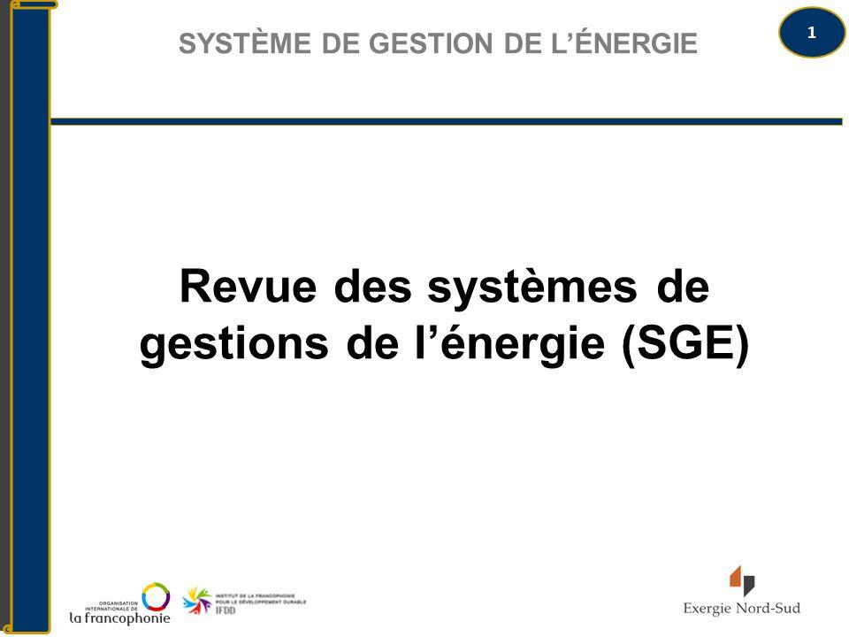 Revue des systèmes de gestions de l'énergie (SGE)