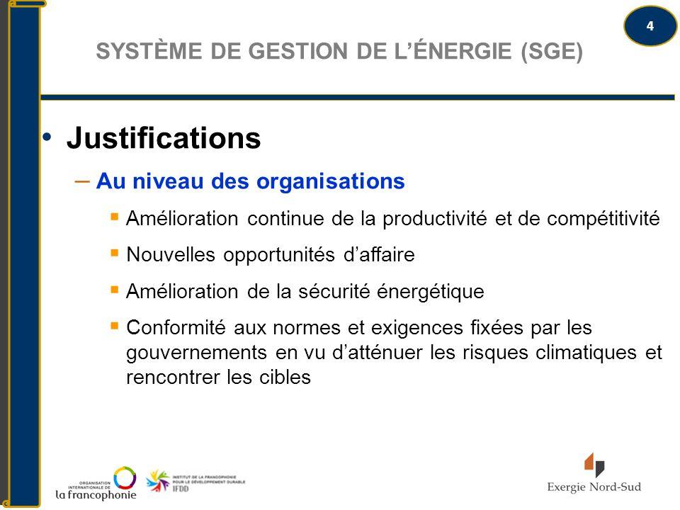 Système de gestion de l'énergie (SGE)