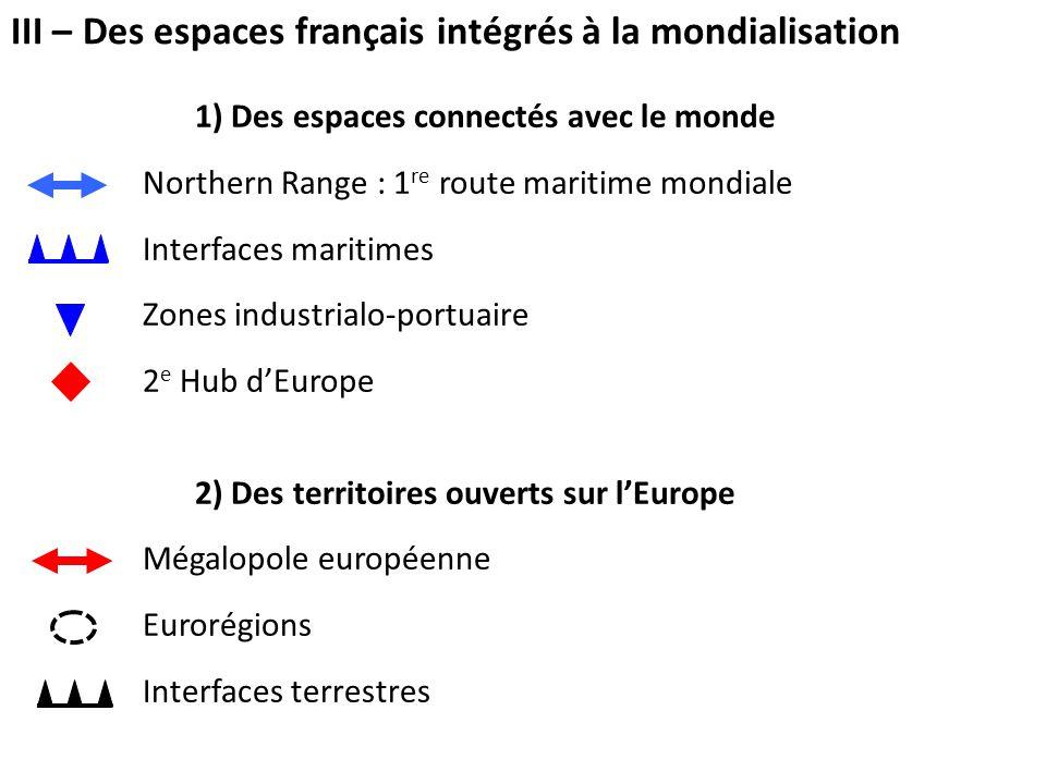 III – Des espaces français intégrés à la mondialisation