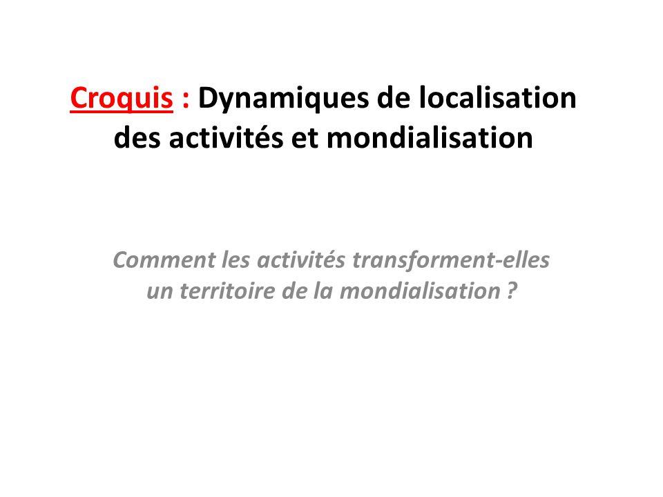 Croquis : Dynamiques de localisation des activités et mondialisation