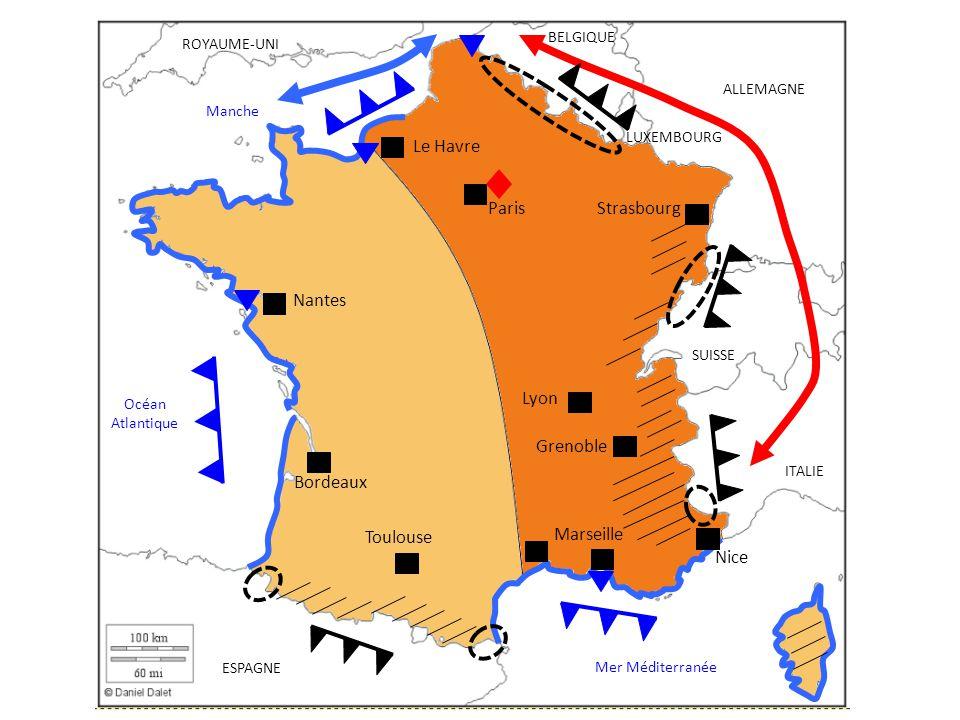 Paris Le Havre Strasbourg Nantes Lyon Grenoble Bordeaux Marseille