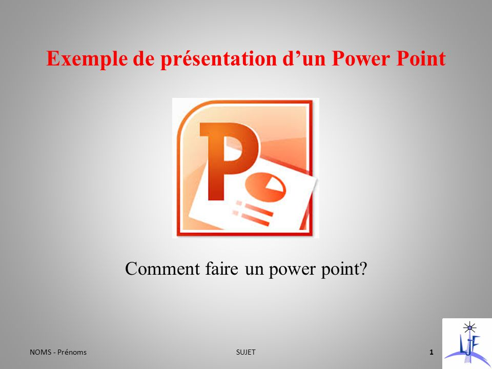 exemple de pr u00e9sentation d u2019un power point