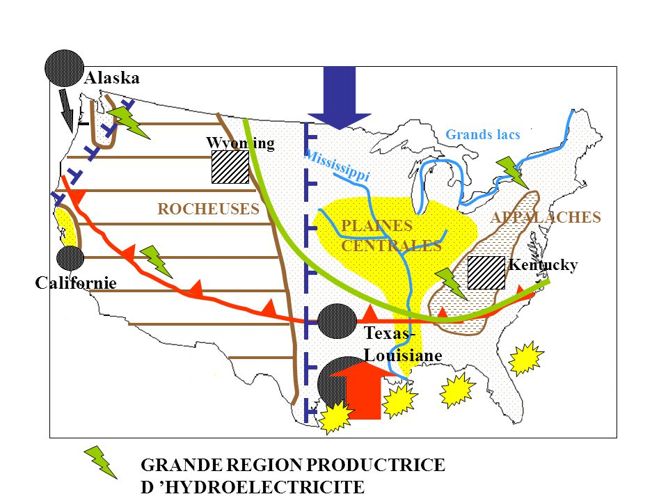 GRANDE REGION PRODUCTRICE D 'HYDROELECTRICITE