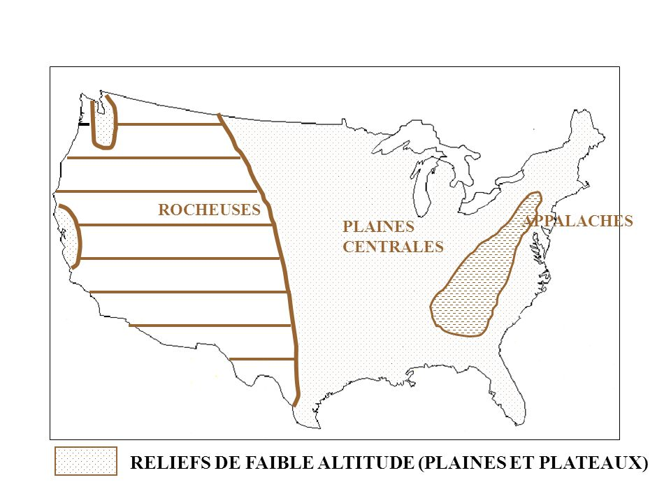RELIEFS DE FAIBLE ALTITUDE (PLAINES ET PLATEAUX)