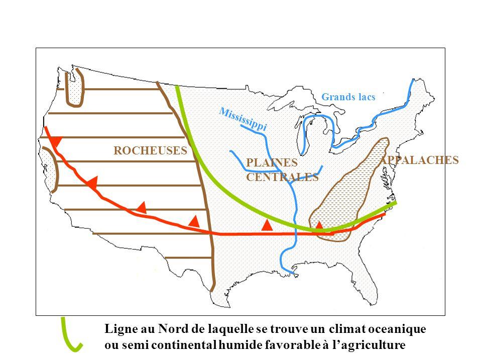 Ligne au Nord de laquelle se trouve un climat oceanique