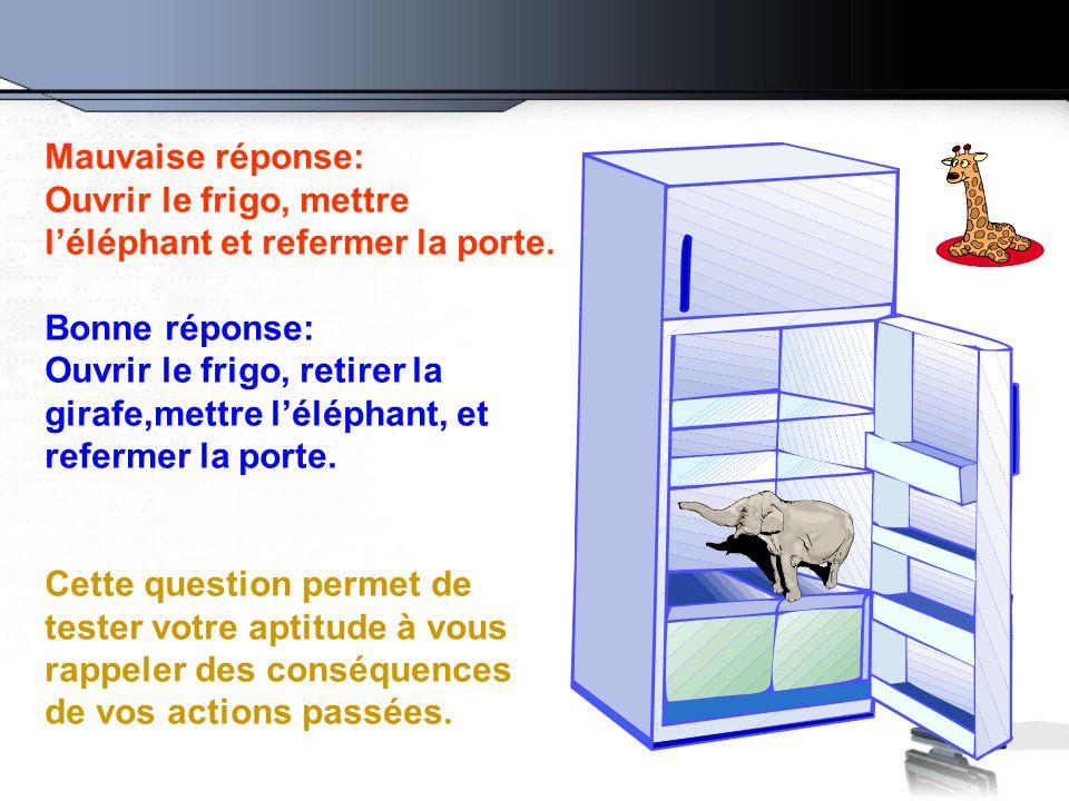 Le jeu suivant est compos de 4 questions qui permettront - Frigo qui fait de la glace ...