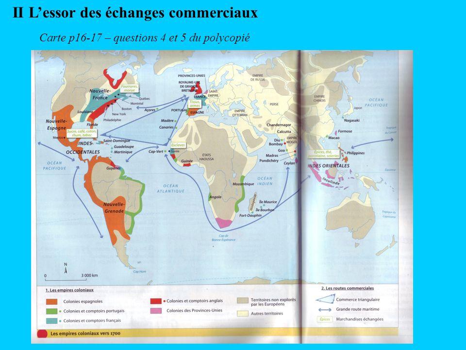 II L'essor des échanges commerciaux