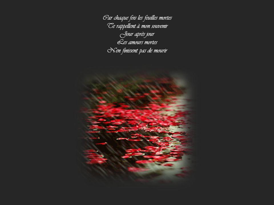Car chaque fois les feuilles mortes Te rappellent à mon souvenir