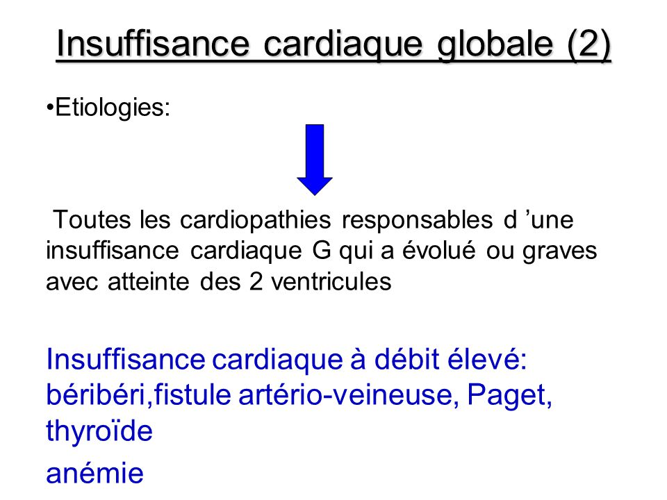 Insuffisance cardiaque globale (2)