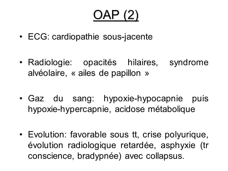 OAP (2) ECG: cardiopathie sous-jacente