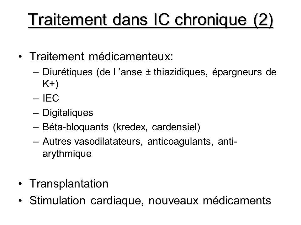 Traitement dans IC chronique (2)