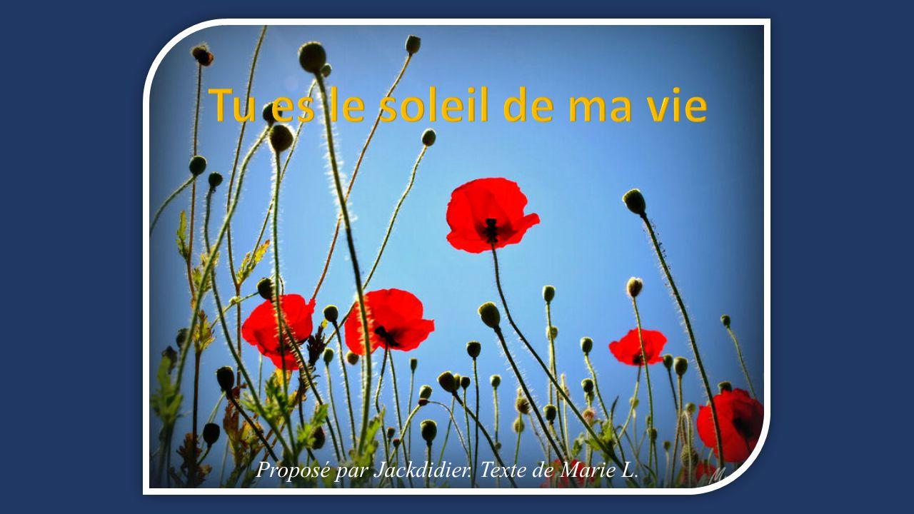 Tu es le soleil de ma vie propos par jackdidier texte de for Tu es le miroir de ma vie