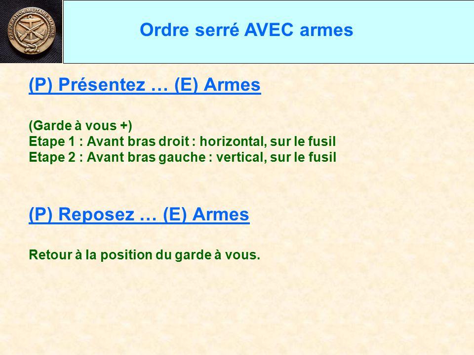 (P) Présentez … (E) Armes