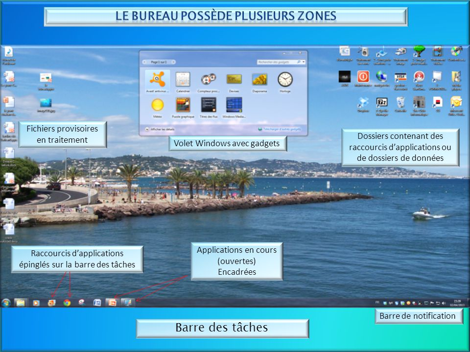 Le bureau de l ordinateur ppt t l charger - Afficher ordinateur sur bureau windows 8 ...