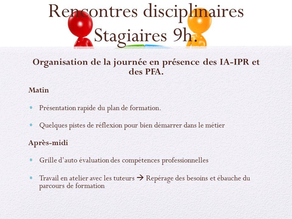Rencontres disciplinaires stagiaires 9h ppt t l charger - Grille des competences professionnelles ...
