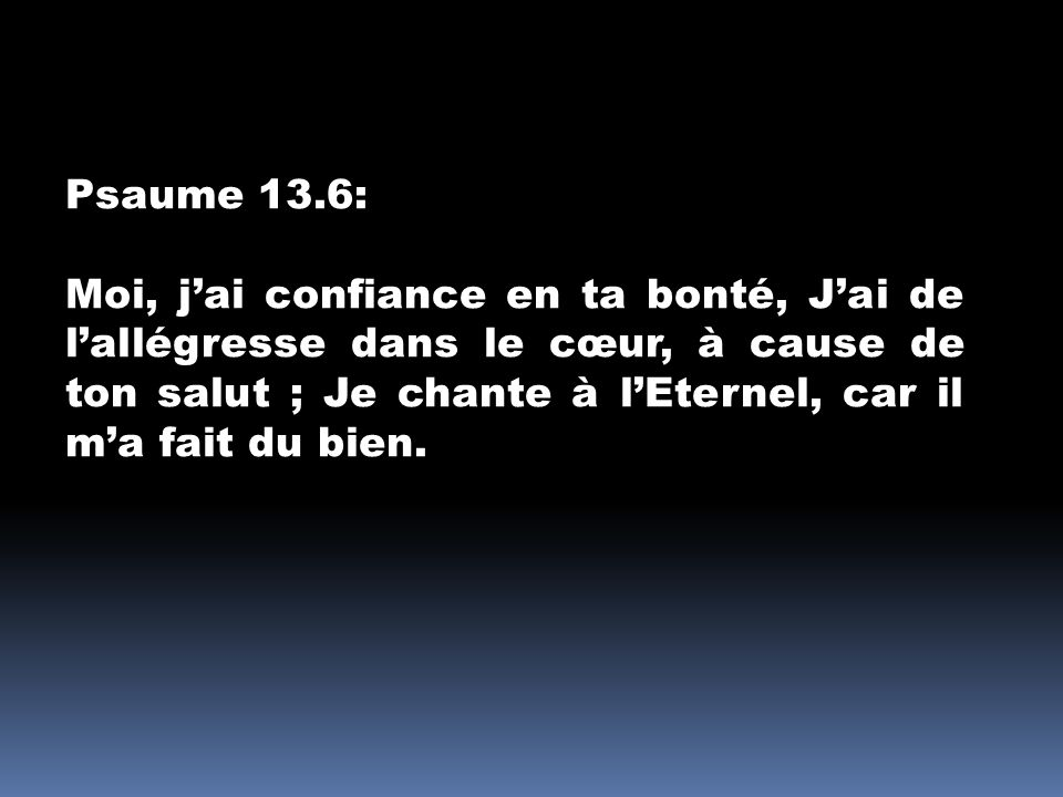 Psaume 13.6: