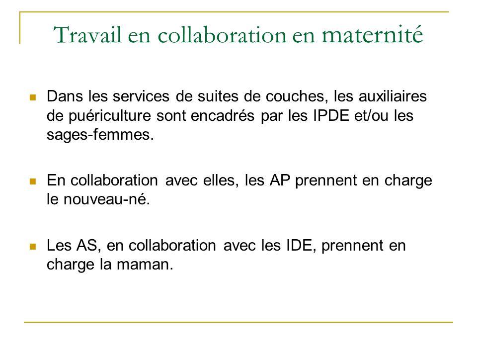 Travail en collaboration en maternité