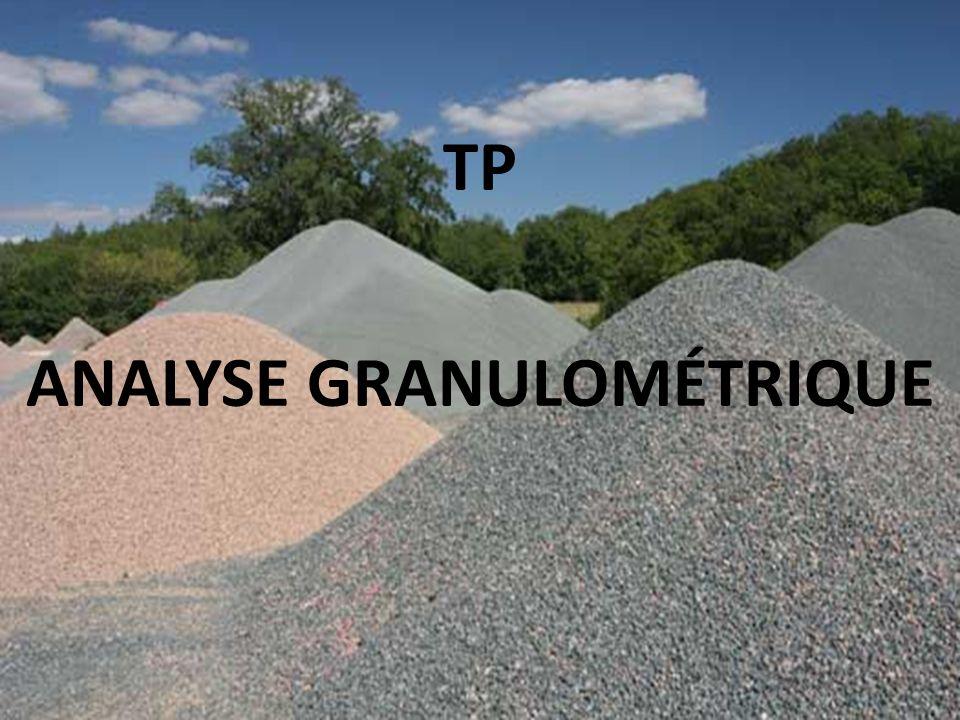 TP ANALYSE GRANULOMÉTRIQUE