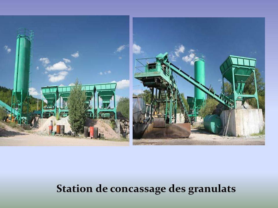 Station de concassage des granulats
