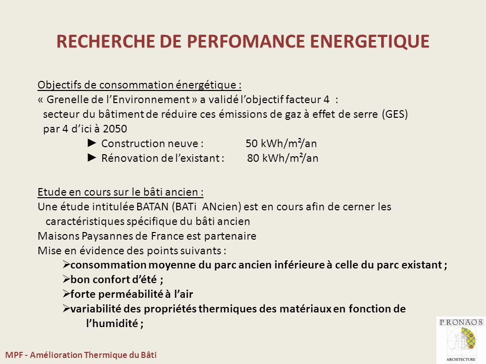 Amlioration Thermique Du Btiment  Ppt Video Online Tlcharger