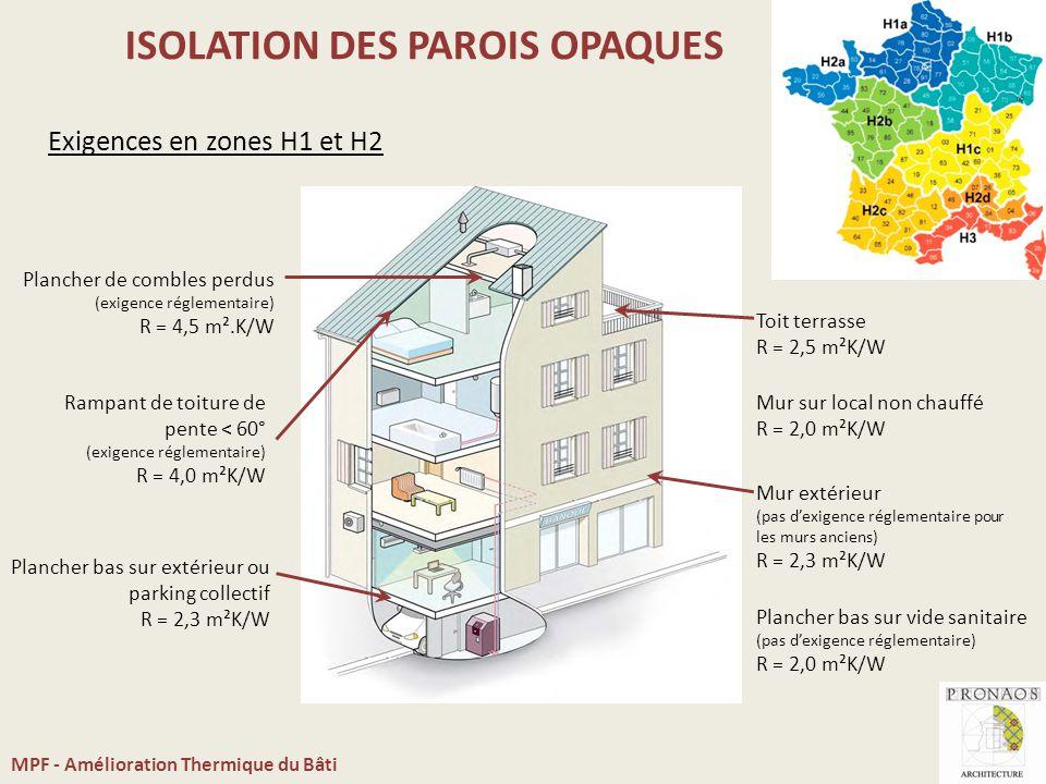 Am lioration thermique du b timent ppt video online for Isolation plancher bas sur vide sanitaire