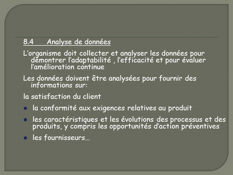 8.4 Analyse de données