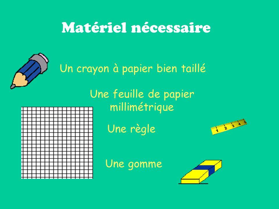 Matériel nécessaire Un crayon à papier bien taillé