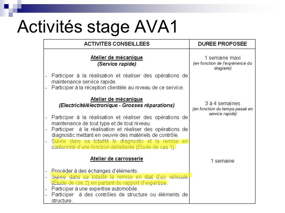 Activités stage AVA1