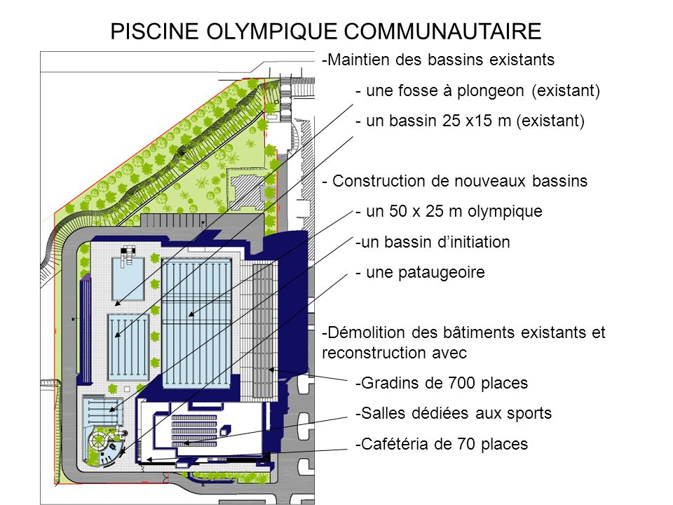 Piscine olympique communautaire ppt t l charger for Construction piscine olympique aubervilliers