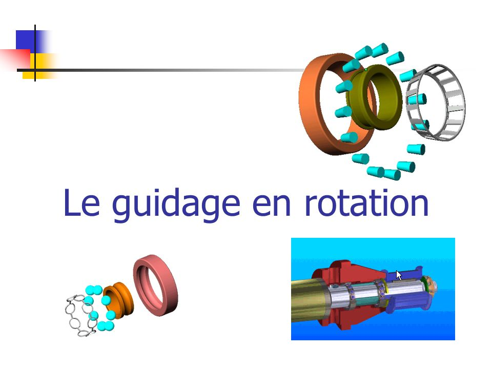 Le guidage en rotation
