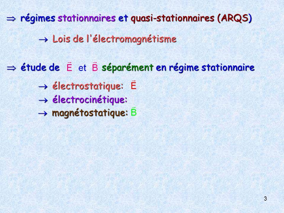  régimes stationnaires et quasi-stationnaires (ARQS)