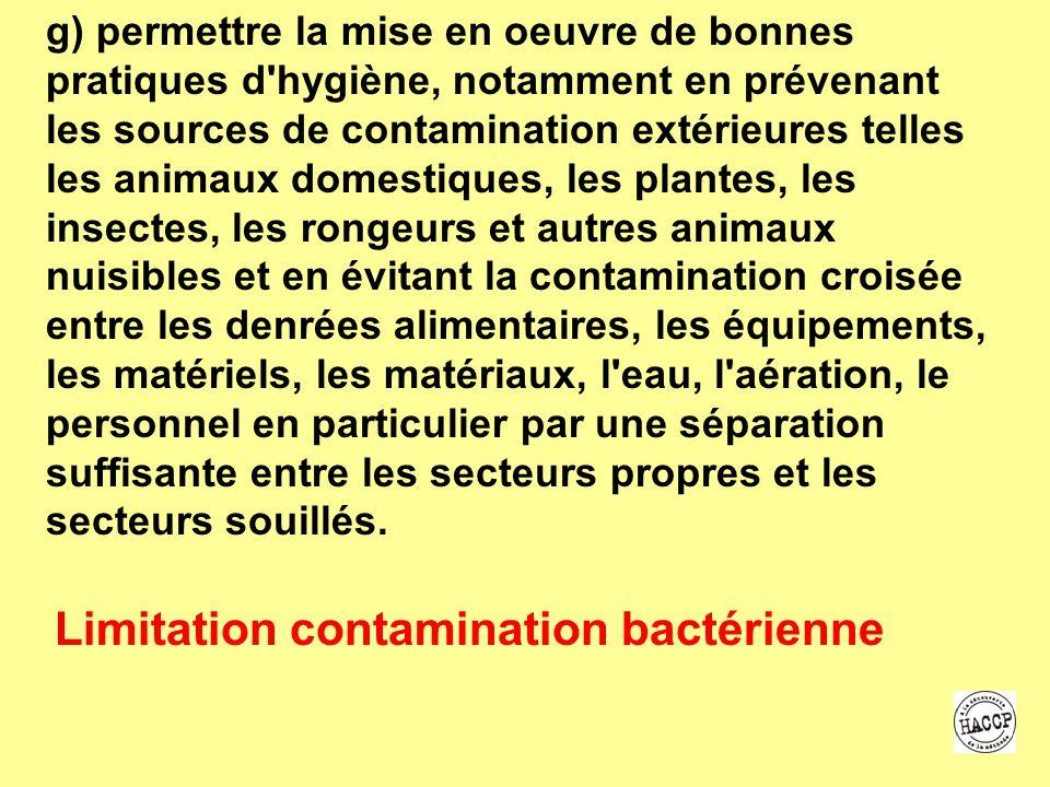 Limitation contamination bactérienne