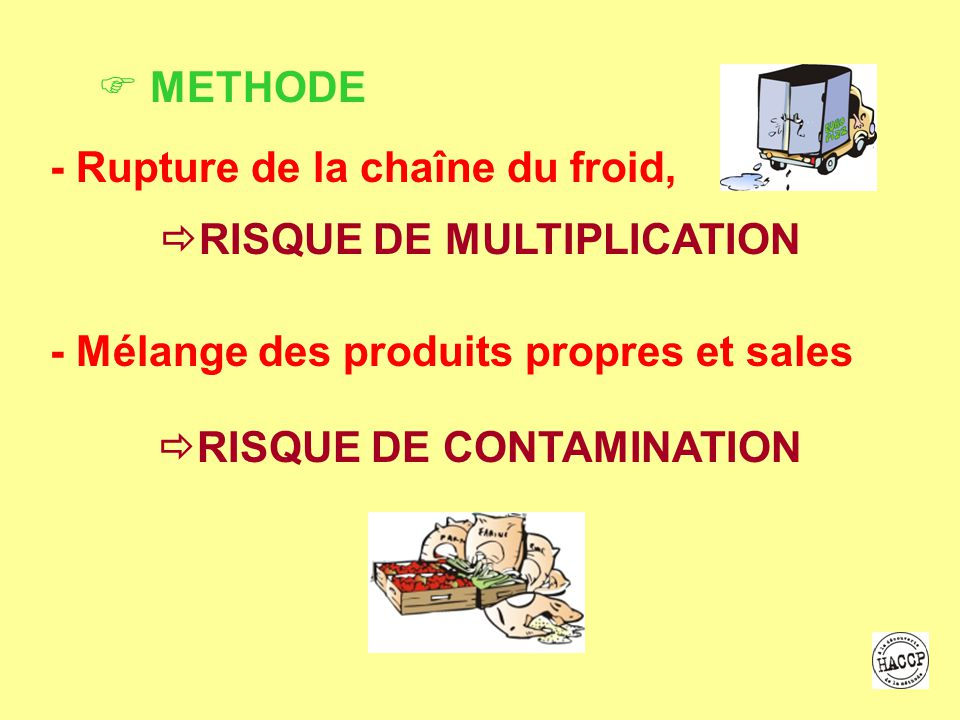 RISQUE DE MULTIPLICATION RISQUE DE CONTAMINATION