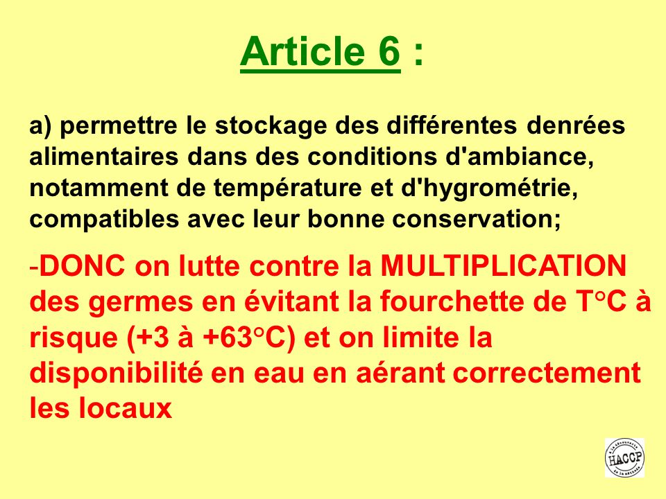 Article 6 :