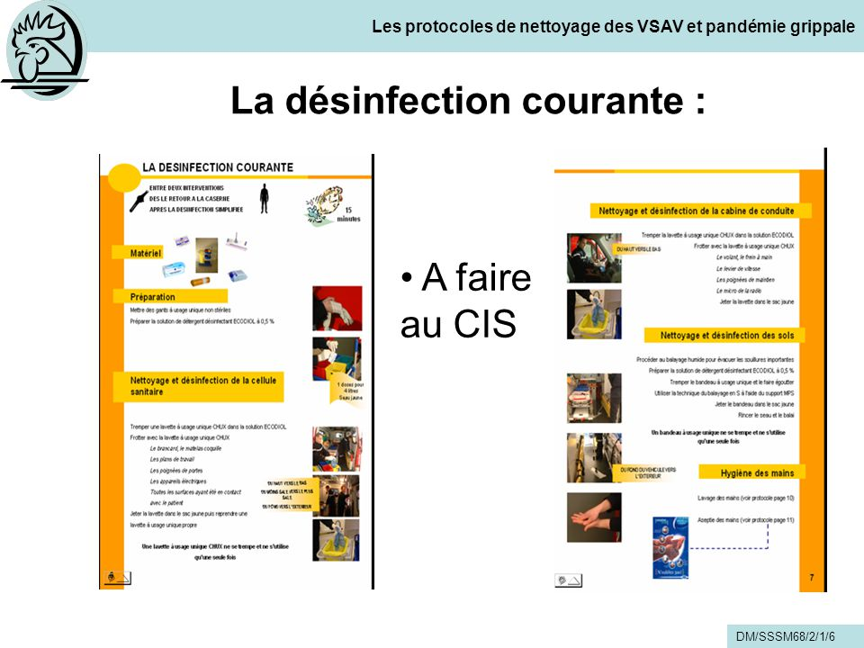 Les protocoles de nettoyage des vsav et pand mie grippale - Plan de nettoyage et de desinfection cuisine ...