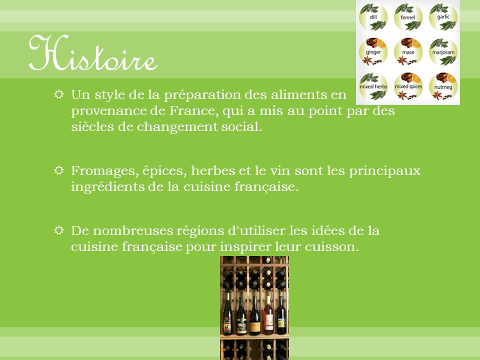 Shannon perry french 2 3 30 12 ppt t l charger for Histoire de la cuisine francaise