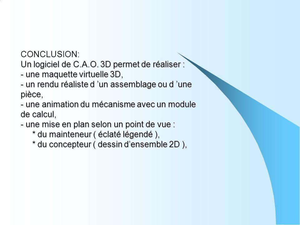 CONCLUSION: Un logiciel de C. A. O