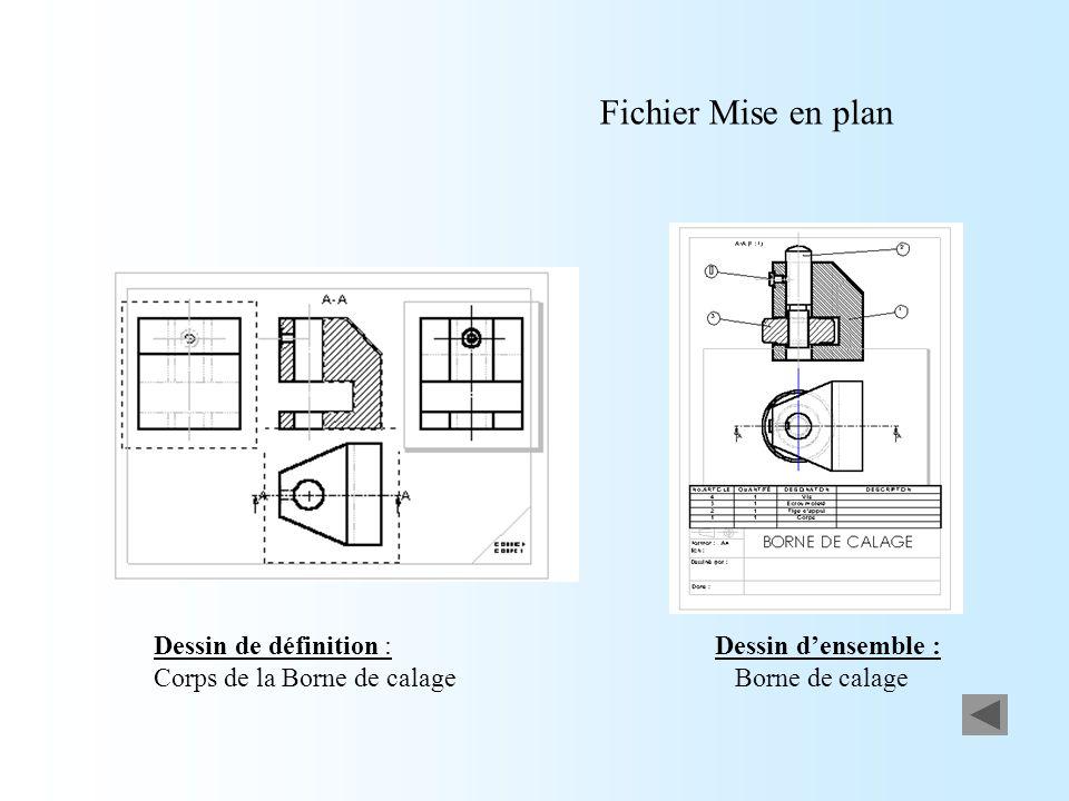 Fichier Mise en plan Dessin d'ensemble : Borne de calage
